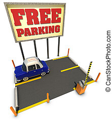 Free parking - Car parking for free