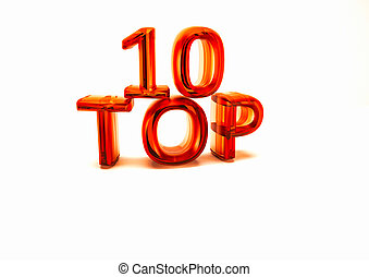 Top 10 3D illustration - Top 10 3D illustration on white...