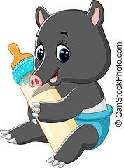 Cute tapir cartoon - illustration of Cute tapir cartoon