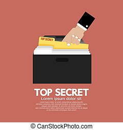 Top Secret Folder In Hand - Top Secret Folder In Hand Vector...
