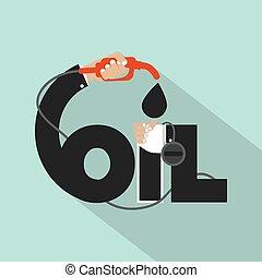 Oil Typography Design.