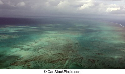 Aerial view Great Barrier Reef - Aerial view of arlington...