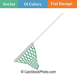 Flat design icon of Fishing net in ui colors Vector...