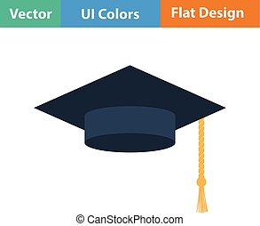 Flat design icon of Graduation cap