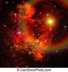 SUPERNOVA - A huge star explodes sending out shock waves...