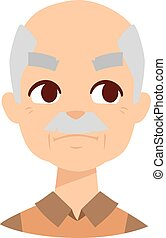 Envious man vector illustration. - Envious man face and old...