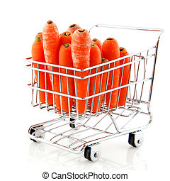 Shopping cart with carrots