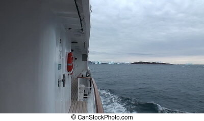 Icebreaker breaks the ice and move forward. - Icebreaker...