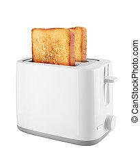 Toaster with toast