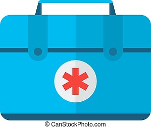 Car medical kit vector illustration - Safety car medical kit...