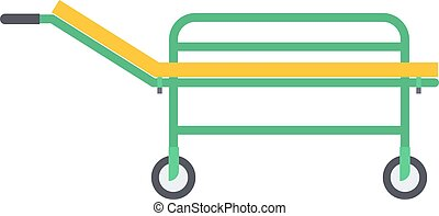 Stretcher vector illustration. - Vector colored flat design...
