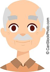Happy grandpa vector illustration - Happy year old senior...