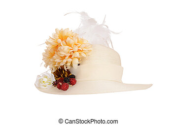 ladies victorian hat - isolated ladies victorian hat