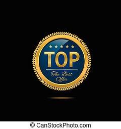 Top. Best offer - Top Best offer Golden Top label Luxury...