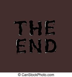 THE END text - THE END. The End text. Black text. Vector...
