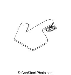 Getting thumb print icon, isometric 3d style