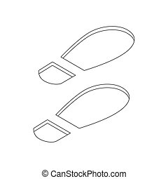Imprint soles shoes icon, isometric 3d style - Imprint soles...