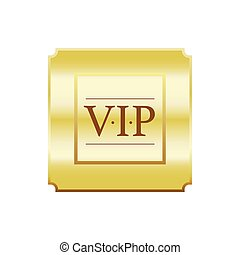VIP gold label label, simple style - VIP gold label label in...