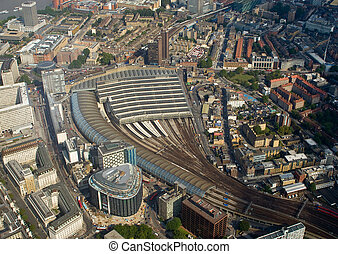 Waterloo station, London - Birdseye view of the Waterloo...