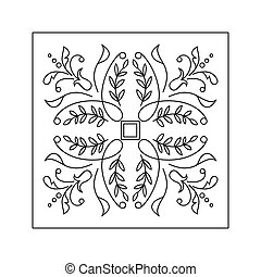 Abstract floral pattern Doodle style Decorative element
