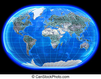 The Mapa Mundi 3D - The mapa mundi painted in high...