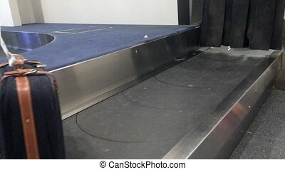 Baggage carousel in airport