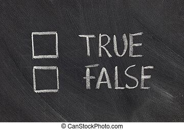 true or false checkboxes - true or false with checkboxes -...