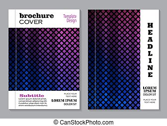 Vector design for brochure cover