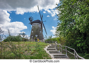 A wind mill on the island Usedom in Benz Germany
