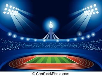 Stadium Background Summer Games Illustration Vector -...