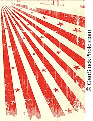 grunge sunbeams paper - A grunge poster with red sunbeams