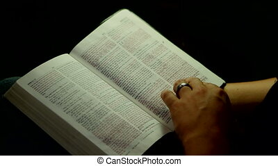 Reading Bible And Hands