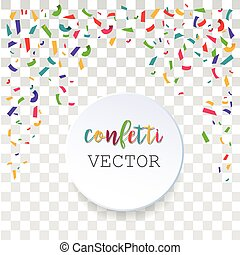 Abstract confetti background