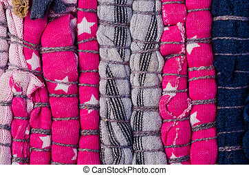 striped fabric texture - Bright pink colorrful striped...