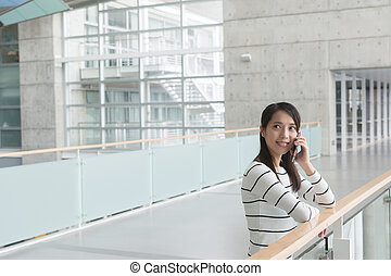 woman use cellphone - Asian young woman use cellphone