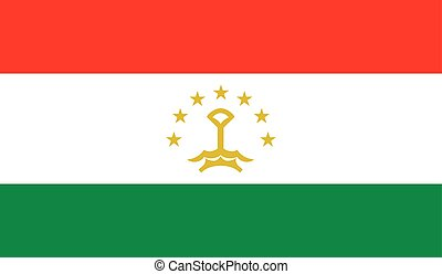 Tajikistan flag image for any design in simple style