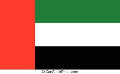 United Arab Emirates flag image for any design in simple...