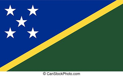 Solomon islands flag image for any design in simple style