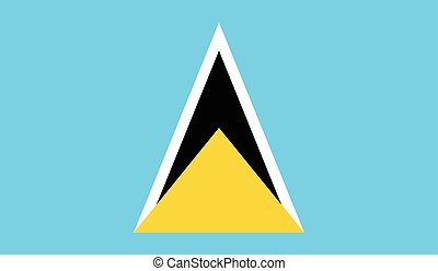 Saint Lucia flag image for any design in simple style