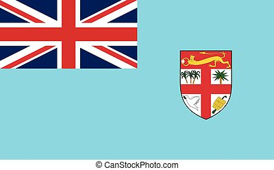 Fiji flag image for any design in simple style