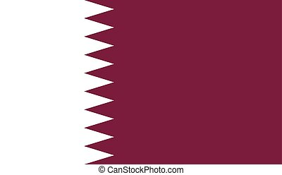 Qatar flag image for any design in simple style