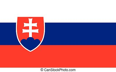 Slovakia flag image for any design in simple style