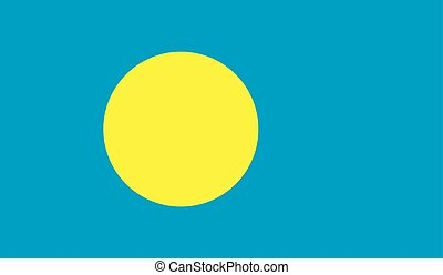 Palau flag image for any design in simple style