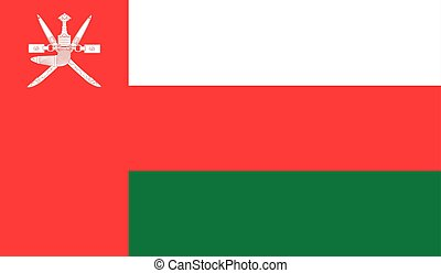 Oman flag image for any design in simple style