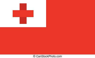 Tonga flag image for any design in simple style
