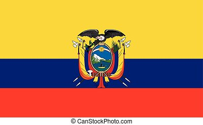 Ecuador flag image for any design in simple style