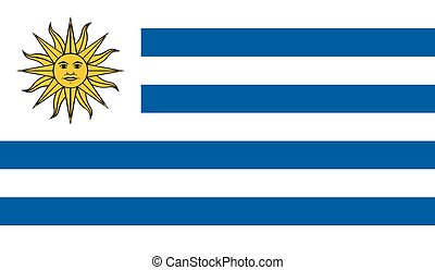 Uruguay flag image for any design in simple style