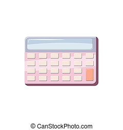 Calculator icon in cartoon style on a white background