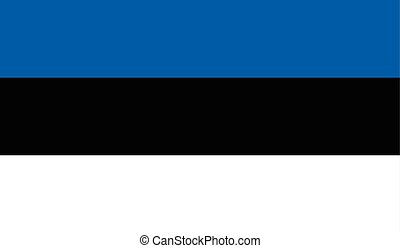 Estonia flag image for any design in simple style