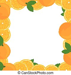 Vector Background with Oranges